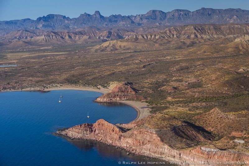 Coastline, Proposed Biosphere Reserve, Sierra de la Giganta, Baja Peninsula, Isla San Jose, Sea of Cortez, Baja California, Mexico